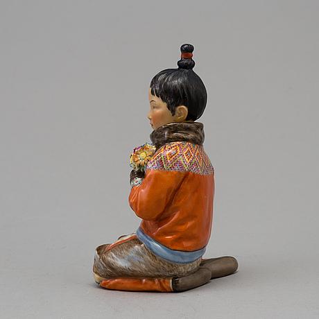 "Figurin, porslin. ""grönland"", royal copenhagen, danmark, 1930 tal"