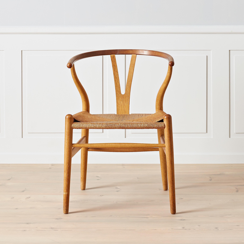 Hans J Wegner, An Early Oak And Teak Wishbone Chair