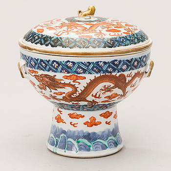 A Chinese warmer pot with cover and liner, Guangxu (1874-1908).