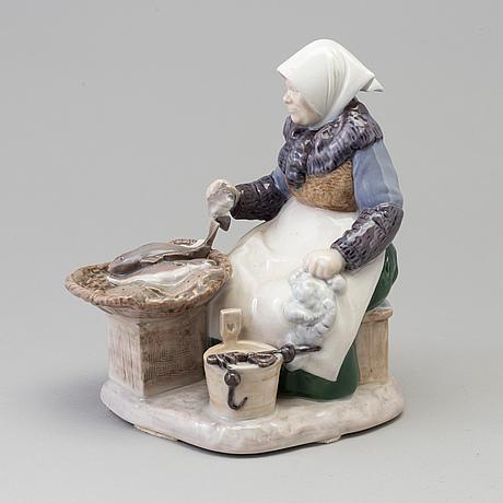 An axel locher porcelain figure group, for bing & gröndahl, denmark, second half of the 20th century.