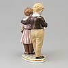 """Figurin, porslin, """"flykten till amerika"""", christian thomsen. royal copenhagen, danmark, 1960 tal"""