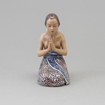 A Dahl Jensen porcelain figure, Denmark, 1940s.