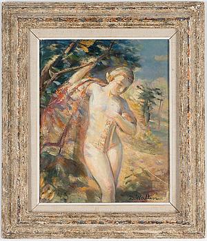 DAVID WALLIN, olja på pannå, signerad, daterad 1938 a tergo.