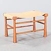 "A ""972"" stool designed by josef frank for svenskt tenn"
