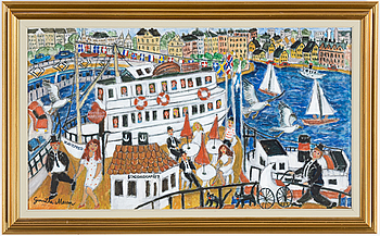 GUNILLA MANN, GUNILLA MANN, oil on canvas, signed.