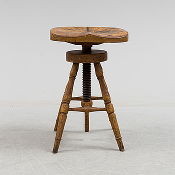 a wooden stool from the late 19th century.