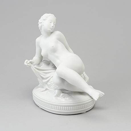 "Figurin, porslin. ""venus"". gerhard henning, royal copenhagen, danmark, 1900 tal"