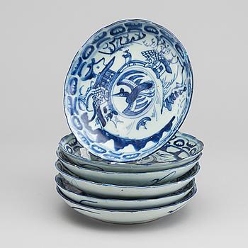 SKÅLFAT, 6 st, porslin, Kina 1800-talets slut.