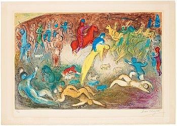 """521. MARC CHAGALL, """"Enlèvement de Chloé"""", ur Daphnis et Chloé."""