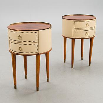 A pair of nightstands by Halvdan Pettersson Möbelfabrik Tibro, second half of 20th Century.