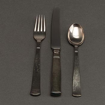 "GAB bestick, ca 61 dlr silver ""Rosenholm"" Stockholm 1960/70-tal."