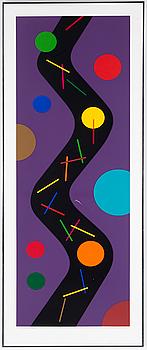 KG NILSON, färglitografi. Signerad och numrerad 44/50. Daterad 1989.