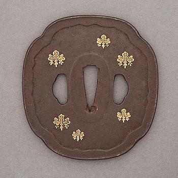 An 18th/19th Century bronze Tsuba.