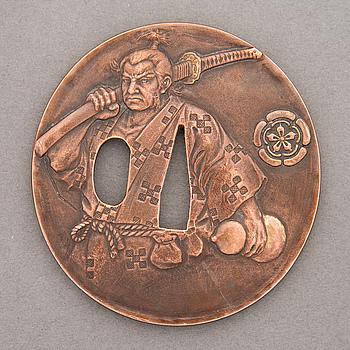 A 20th Century Japanese bronze Tsuba.