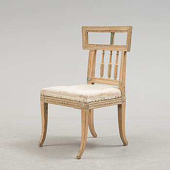 A 18th century gustavian chair.