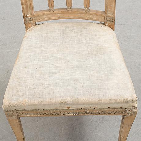 A 18th century gustavian chair.