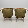 A pair of russian armchairs late 20th century.