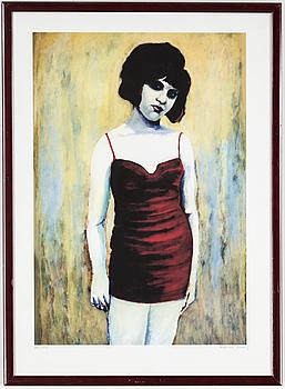 KARIN BROOS, färglitografi, signerad och numrerad 36/90.