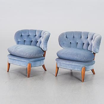 OTTO SCHULZ, fåtöljer ett par JIO-möbler Jönköping 1900-talets mitt/andra hälft.