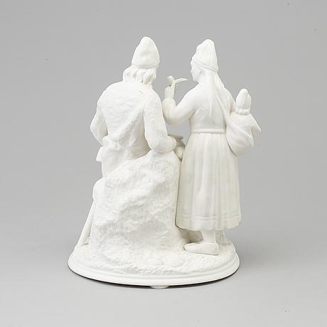 Figurgrupp, biskvi. rörstrand, omkring 1900