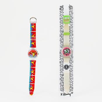 KEITH HARING armbandsur 2 st i plast.