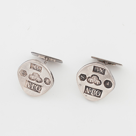 Owe johansson, stockholm, 1972, a pair of cuff links