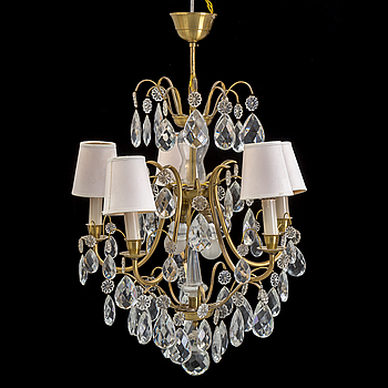 A CHANDELIER, rococo-style, 20th century.