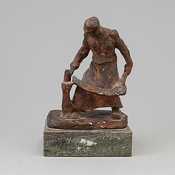 CHRISTIAN ERIKSSON, skulptur, patinerad gips, signerad Chr. Eriksson.