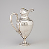 A german sterling silver claret jug, early 20th century