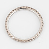 Full eternityring, 18 carat white gold, de beers, with diamonds approx. 0.35 cts.