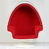"""Lee west, an """"egg chair"""" and ottoman, lee west inc. usa 1970´s."""