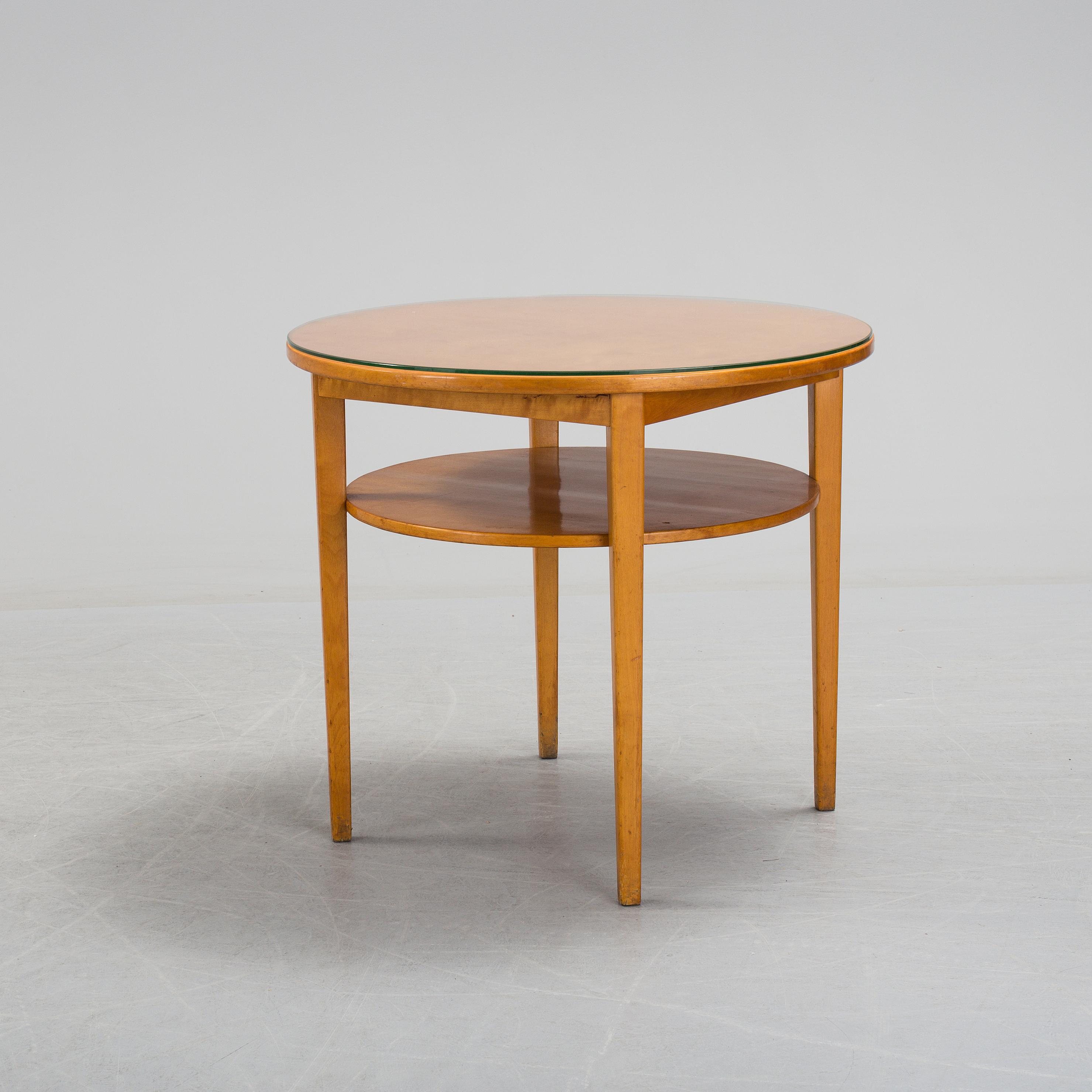 A swedish modern birch veneered coffee table 1930s 40s