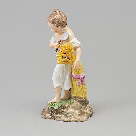 """Figurin, porslin. """"sommaren"""", efter andreas hald, royal copenhagen, danmark, sent 1800 tal"""