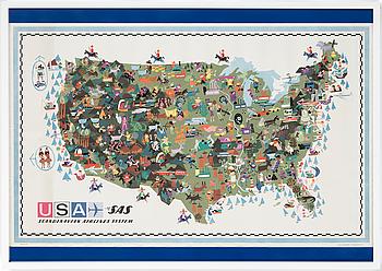 """AFFISCH, """"USA SAS"""", Clausen 61."""