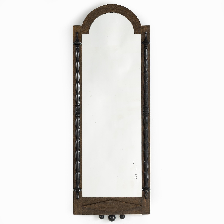 An oak framed mirror, 1910\'s/20\'s. - Bukowskis