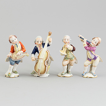 A group of four Hutschenreuter porcelain figurines, Germany, 1950/60's.