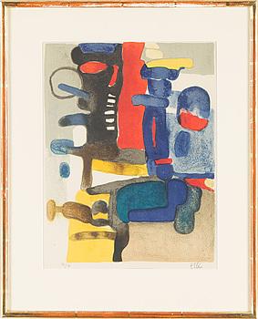 MAURICE ESTÉVE, litografi, signerad, numrerad 37/75.