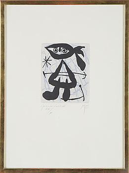 "JOAN MIRÓ, färgetsning, ur: ""La bague d'aurore"", 1957."