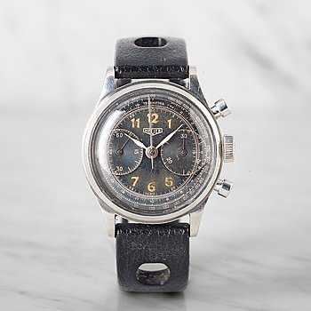 "2. HEUER, chronograph, ""Big Eyes""."