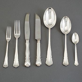 "BESTICK, 78 snarlika delar, silver, ""Chippendale"", 1930-tal."
