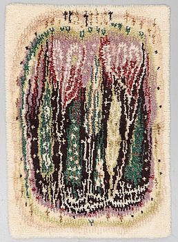 """AAPPO HÄRKÖNEN, MATTA, """"Kaukametsä"""", (""""Fjärran skog""""), rya, ca 149,5 x 103 cm."""