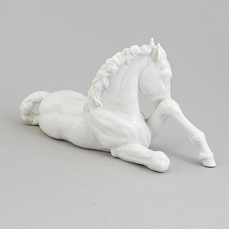 Figurin, porslin. meissen, tyskland, 1950-tal.