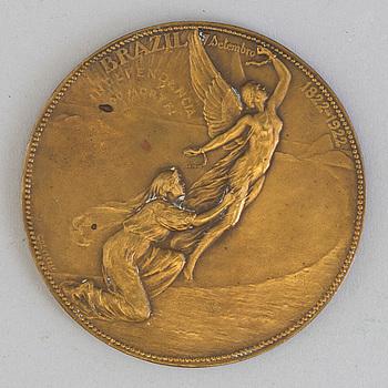 GODEFROID DEVREESE, A bronze medal from the World's Fair in Rio de Janeiro, Brasil 1922-3.