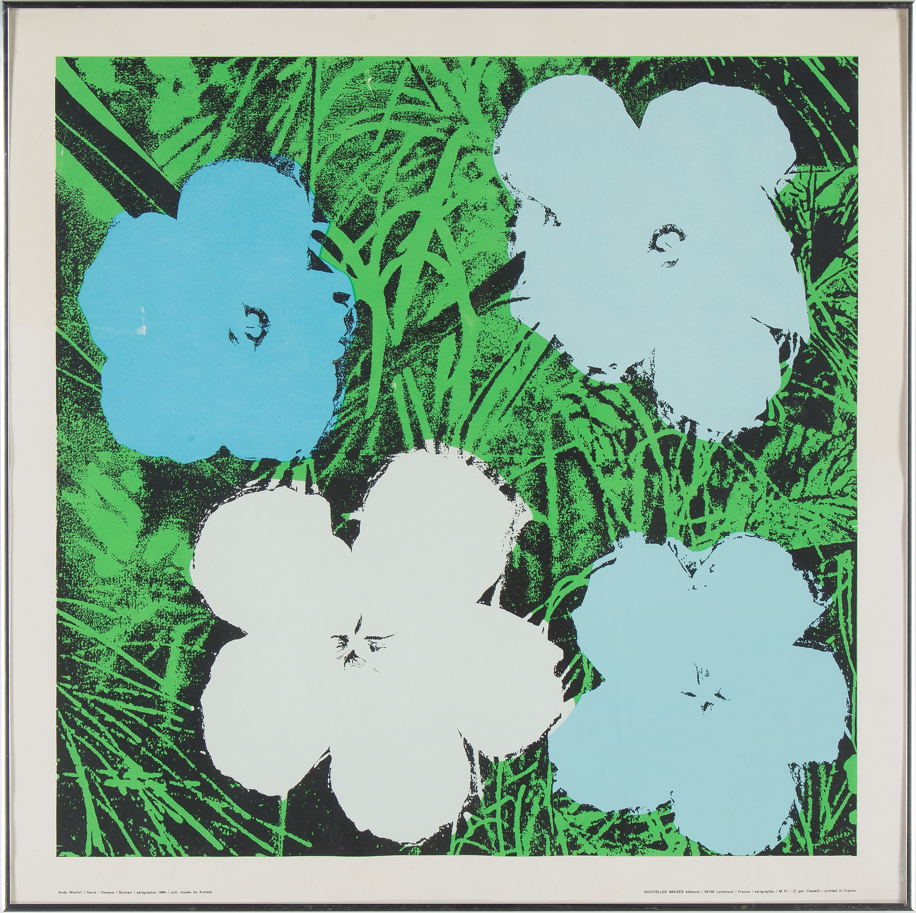 Andy Warhol Andy Warhpo After Sil Screen Four Flowers 1970