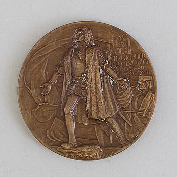 MEDALJ, brons, World's Columbian Exposition, 1893.