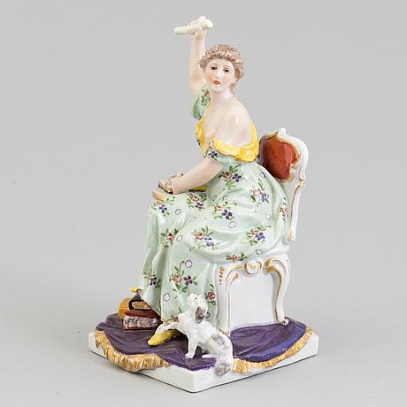 Figurin, porslin. dressler, kister & cie. tyskland omkring 1900.