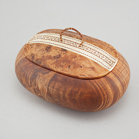 A box by thore sunna, signed and dated 1977