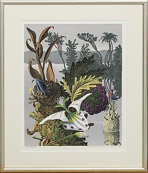 KARL AXEL PEHRSON, färglitografi signerad och daterat provtryck .84.