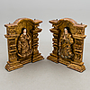 A pair of wall sculptures, peru 18th/19th century.