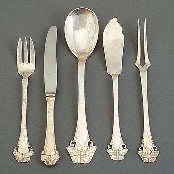 BESTICK, silver, 19 delar, Danmark, 1900-talets första hälft.